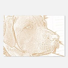 Yellow Lab (sketch) Postcards (Package of 8)