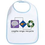 Cogito Ergo Recycle Bib