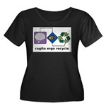 Cogito Ergo Recycle Women's Plus Size Scoop Neck D
