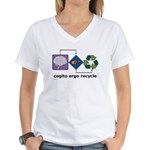 Cogito Ergo Recycle Women's V-Neck T-Shirt