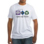 Cogito Ergo Recycle Fitted T-Shirt