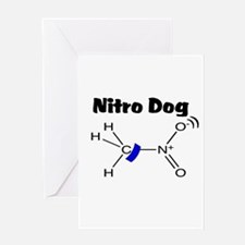 Nitro Dog Greeting Card