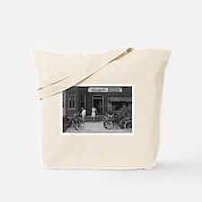 Old Bicycle Rental Shop Tote Bag