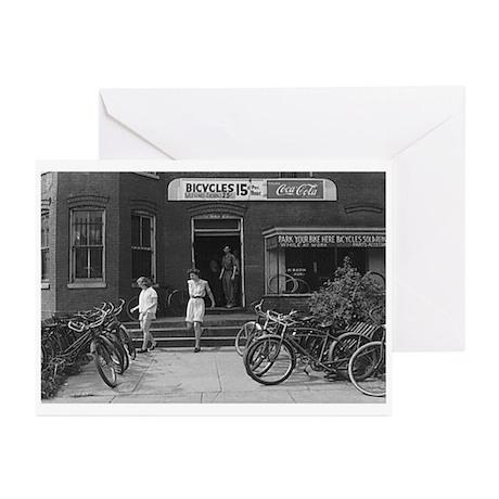 Old Bicycle Rental Shop Greeting Cards (Pk of 10)