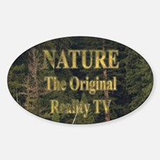 Original Reality TV Oval Decal