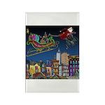 Santa Under New Management Rectangle Magnet (10 pa