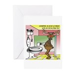 Reindeer Drug Tests Greeting Cards (Pk of 10)