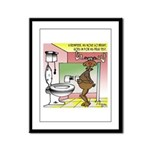 Reindeer Drug Tests Framed Panel Print