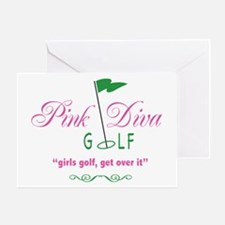 Pink Diva Golf- Greeting Card