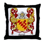 Bardi Family Crest Throw Pillow