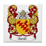 Bardi Family Crest Tile Coaster