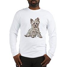 Silky Terrier (sketch) Long Sleeve T-Shirt