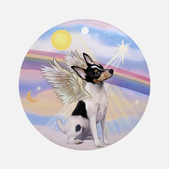 Toy Fox Terrier Angel Ornament (Round)