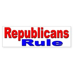 Republicans Rule Bumper Sticker for Republicans