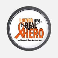 Never Knew A Hero 2 ORANGE (Father) Wall Clock