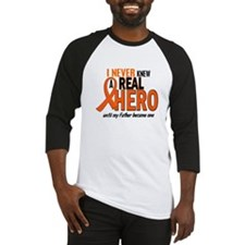 Never Knew A Hero 2 ORANGE (Father) Baseball Jerse