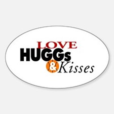 Love Huggs and Kisses Oval Decal