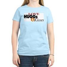 Love Huggs and Kisses Women's Pink T-Shirt