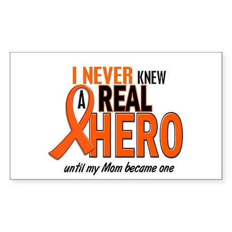 Never Knew A Hero 2 ORANGE (Mom) Sticker (Rectangl