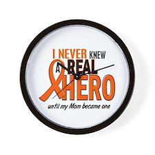 Never Knew A Hero 2 ORANGE (Mom) Wall Clock