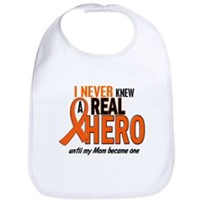 Never Knew A Hero 2 ORANGE (Mom) Bib