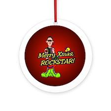 """Merry Xmas Rockstar!"" Ornament (Round)"