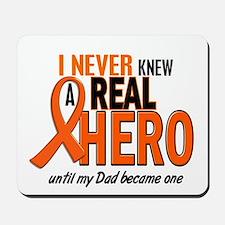 Never Knew A Hero 2 ORANGE (Dad) Mousepad