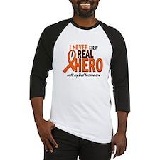 Never Knew A Hero 2 ORANGE (Dad) Baseball Jersey