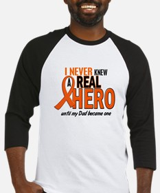 Never Knew A Hero 2 ORANGE (Dad) Baseball Jersey