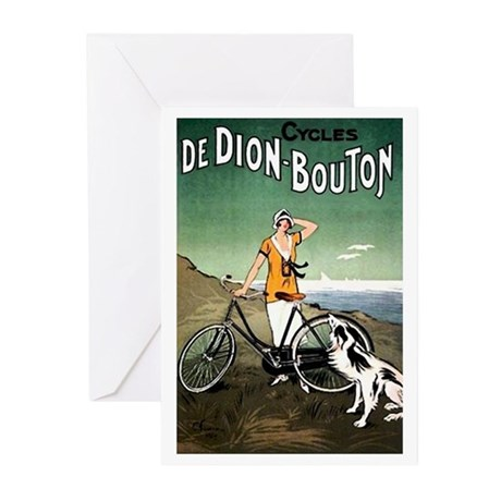 Bicycle Girl & Dog Greeting Cards (Pk of 20)