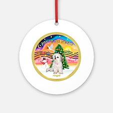 XmasMusic2 /Angel, the family dog ornament (Round)