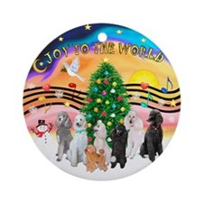 XmasMusic2C /7 Poodles Ornament (Round)