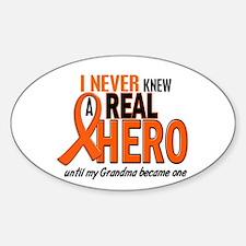 Never Knew A Hero 2 ORANGE (Grandma) Decal