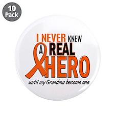 "Never Knew A Hero 2 ORANGE (Grandma) 3.5"" Button ("