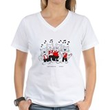 Barbershop choir Womens V-Neck T-shirts