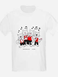Chorus Singing Cats T-Shirt