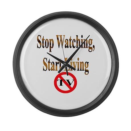 Stop Watching, Start Living Large Wall Clock