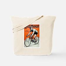 Vintage Bicycle Girl Tote Bag
