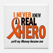 Never Knew A Hero 2 ORANGE (Mommy) Tile Coaster