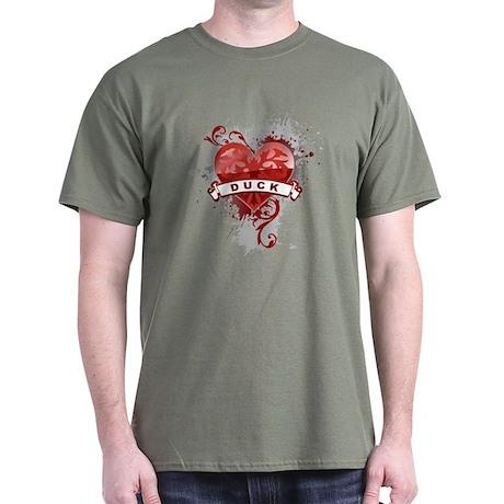 Heart Duck Dark T-Shirt