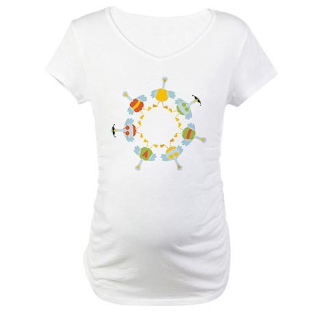 7 Swans A-Swimming Maternity T-Shirt