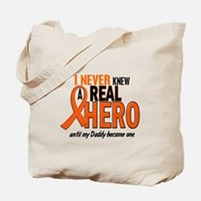 Never Knew A Hero 2 ORANGE (Daddy) Tote Bag