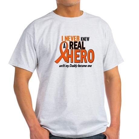 Never Knew A Hero 2 ORANGE (Daddy) Light T-Shirt