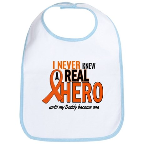 Never Knew A Hero 2 ORANGE (Daddy) Bib