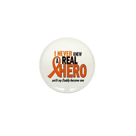 Never Knew A Hero 2 ORANGE (Daddy) Mini Button (10