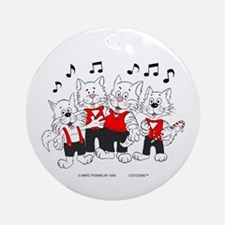 Chorus Singing Cats Ornament (Round)