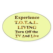TOTAL Living Oval Decal