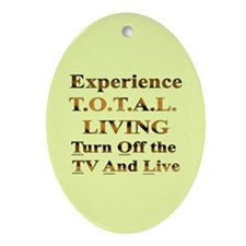 TOTAL Living Oval Ornament