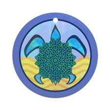 Knot Turtle Ornament (Round)