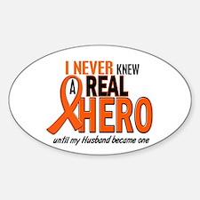 Never Knew A Hero 2 ORANGE (Husband) Decal